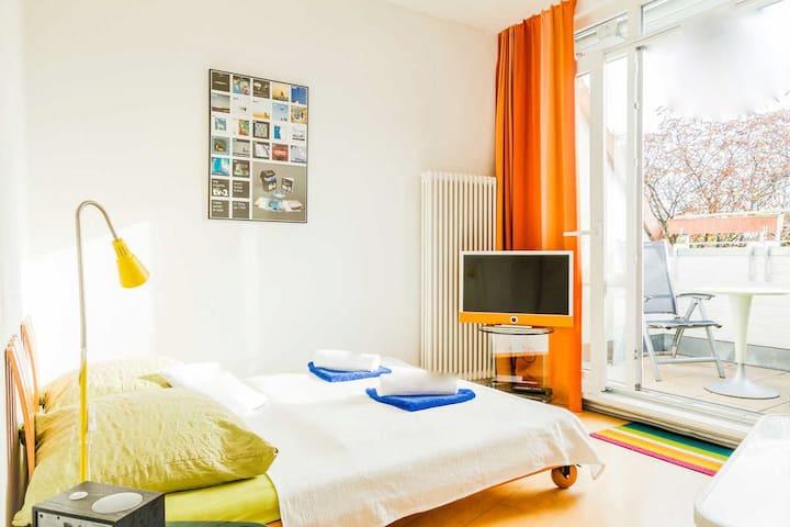 Habitación con terraza/baño propio - Berlín - Bed & Breakfast