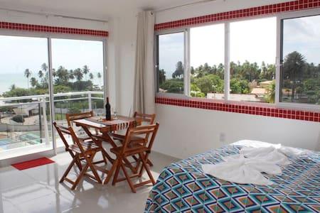 Flat Mobilado com vista mar ( Edifício EvaMar)