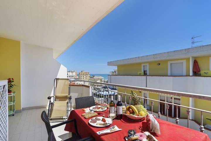 Sea-View Apartment in Alba Adriatica with Private Terrace