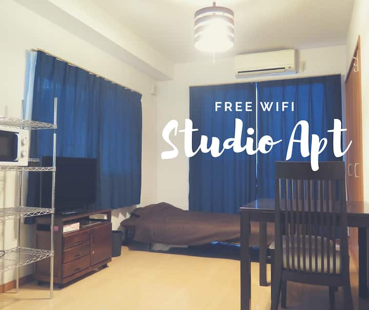 Studio Apt with Free WiFi in Kagoshima City