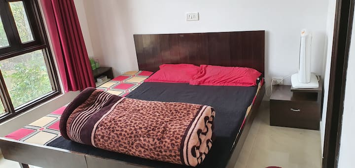 Furnished Tapovan home with view for long stay