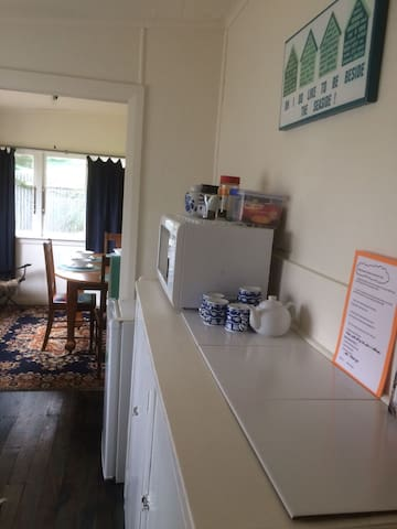 View from the kitchen and the dining room