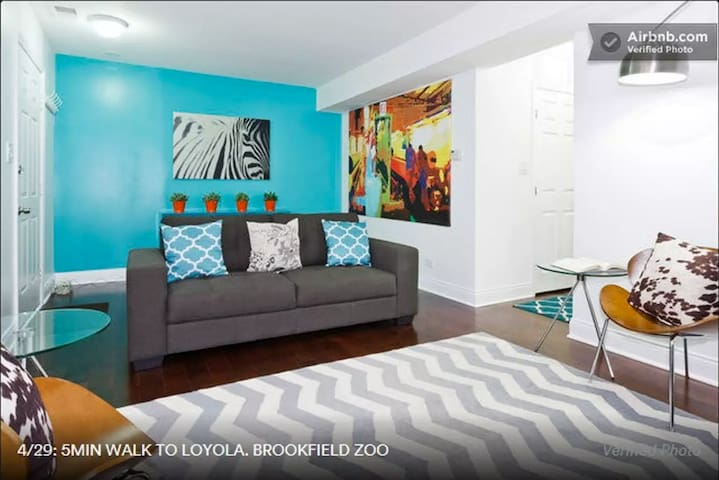 5min walk to Loyola. Close to Brookfield zoo.