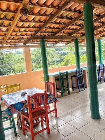 Tree top third floor lounge area