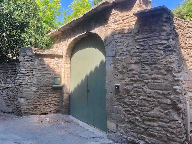 Front gate of the house