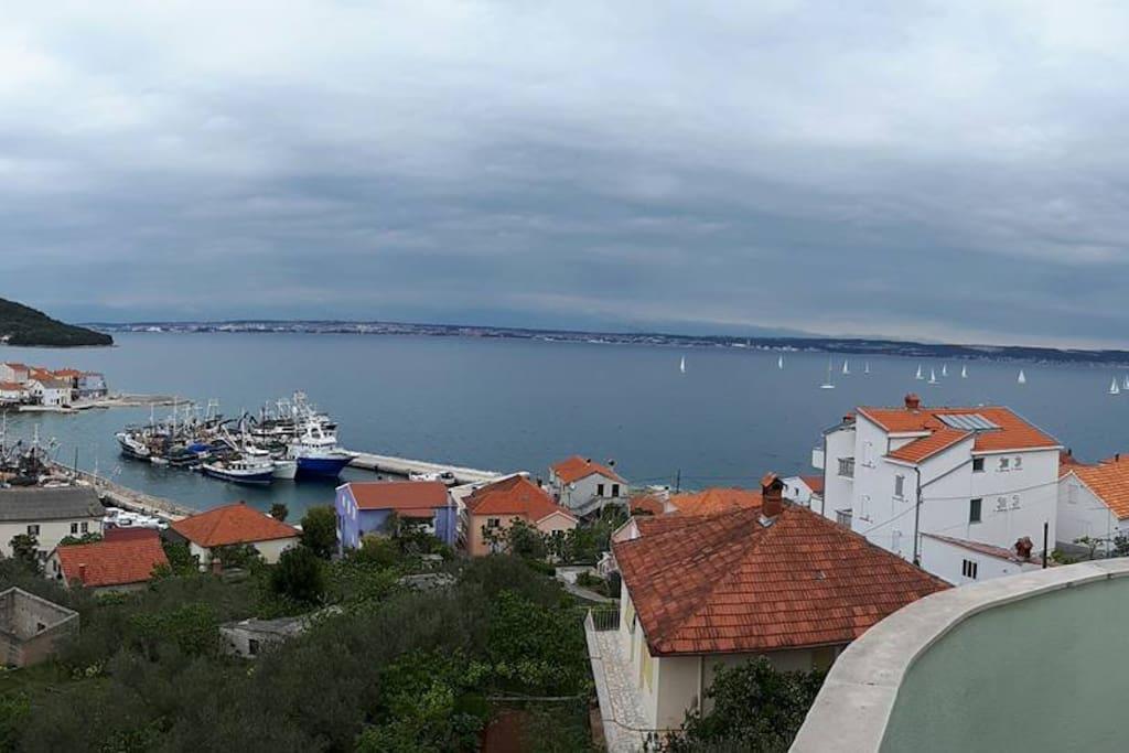 Pogled iz apartman Sivia