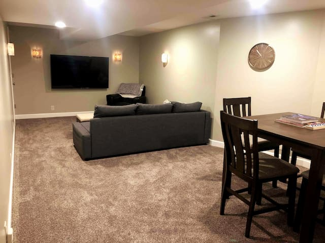 Main living space with dining area.
