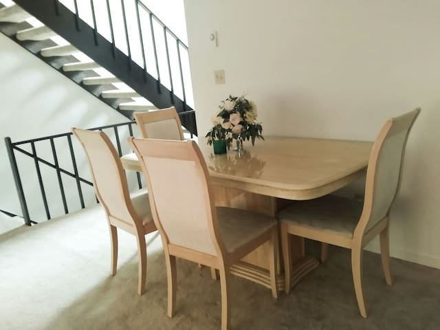 Comfortable table for meals or work