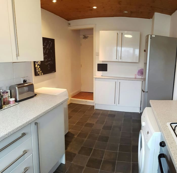 Large clean kitchen with all utilities included
