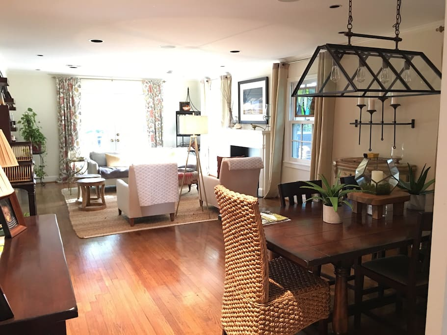 Lovely dining and living room combo.