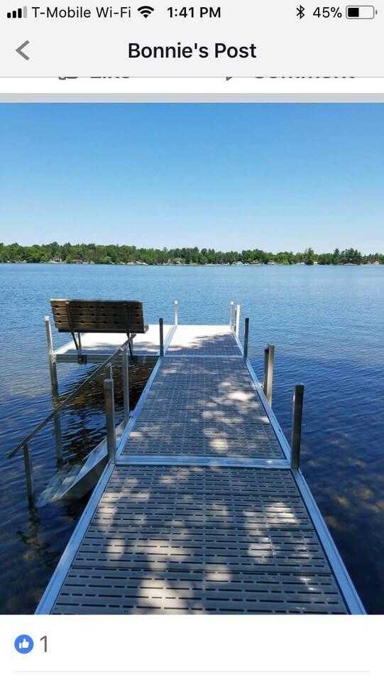 Brand new dock! June 2018
