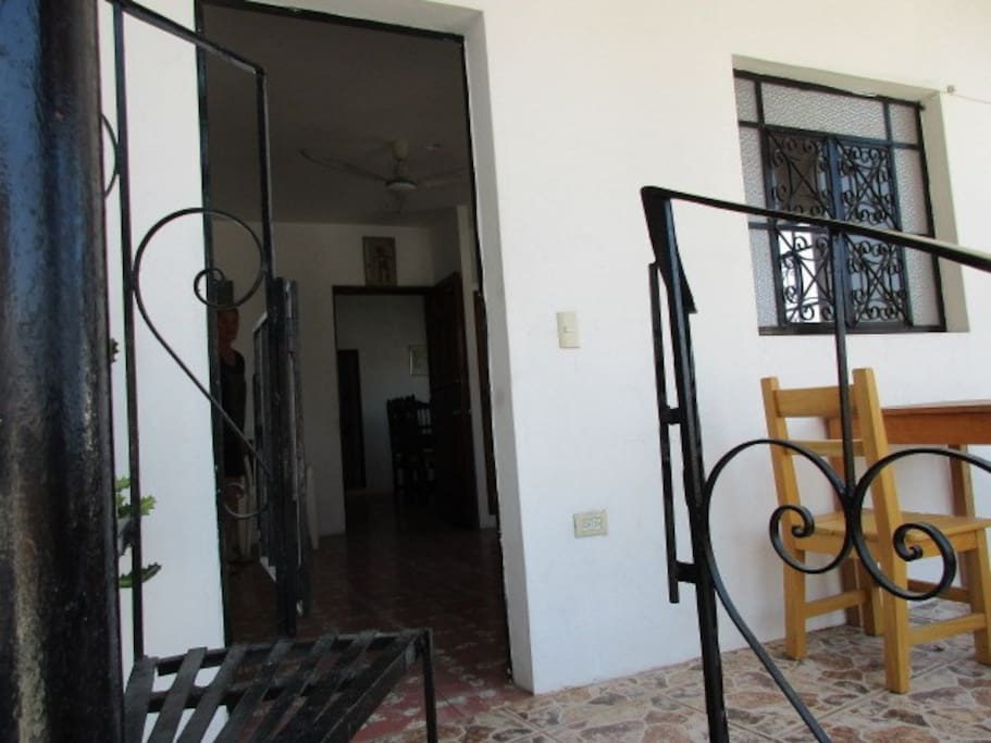 Front door to Apt. #4
