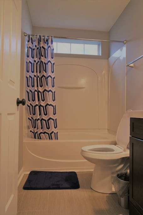 Your own private bathroom just right outside the door with shower tub/toilet/sink