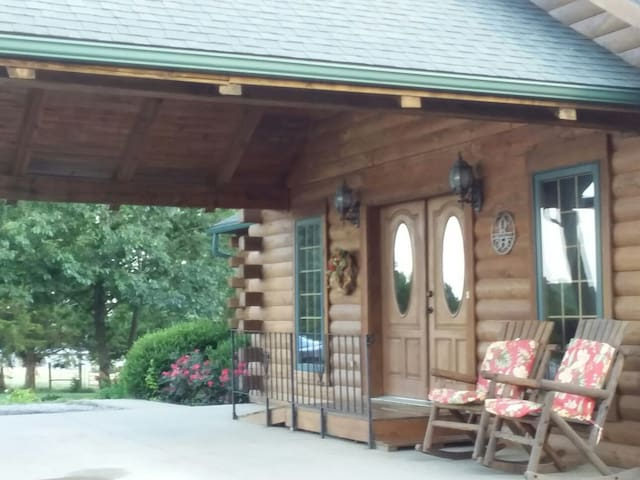 Enjoy a few moments relaxing in the rocking chairs under the front portico.
