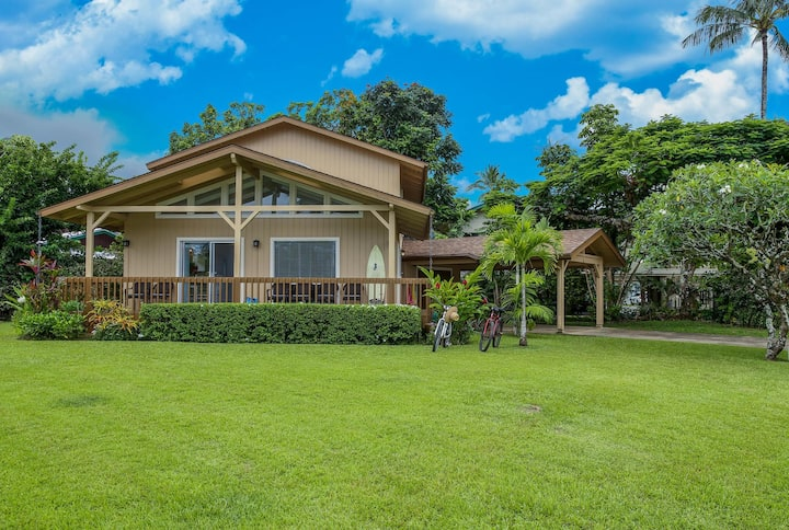 Beautiful, Upgraded Hanalei Home!  Walk to the Beach & Town! TVNC #1168