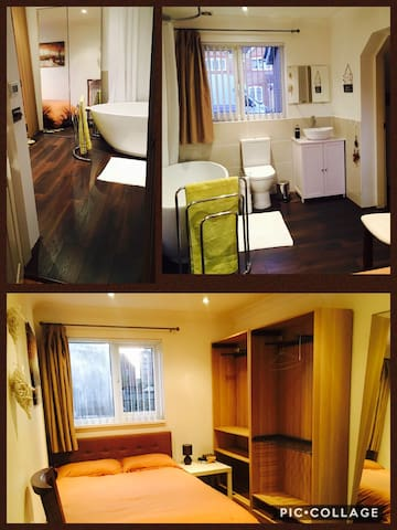 Double room w/private bathroom 35mins to c/London