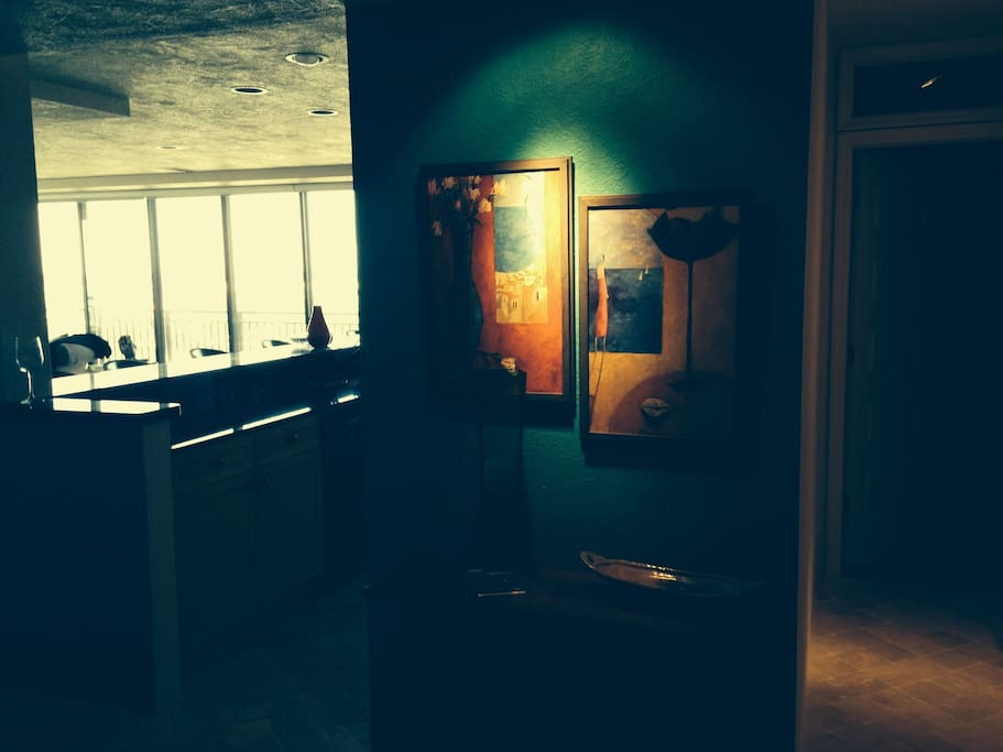 Entryway to our Top Floor Condo. Sits on a Peninsula of land surrounded by The Gulf of Mexico.
