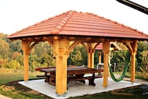 Outdoor pavilion built by skilled Croatian craftsmen in summer 2019.