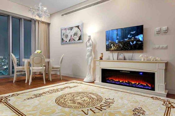 Люкс Апартаменты с камином в Москва-Сити