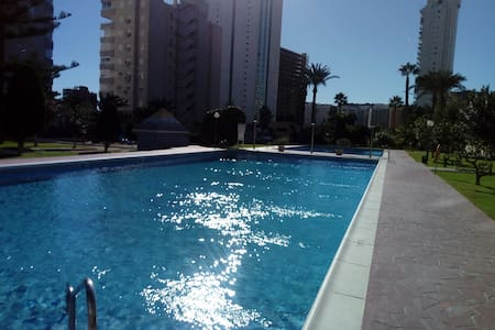 STUDIO HANNIBAL1 benidorm free parking 2 pools!!