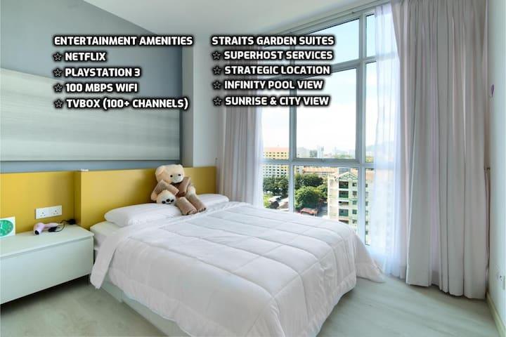 ★ Couples Getaway II ★ Cozy Suite Sleeps 1~4  城市套房
