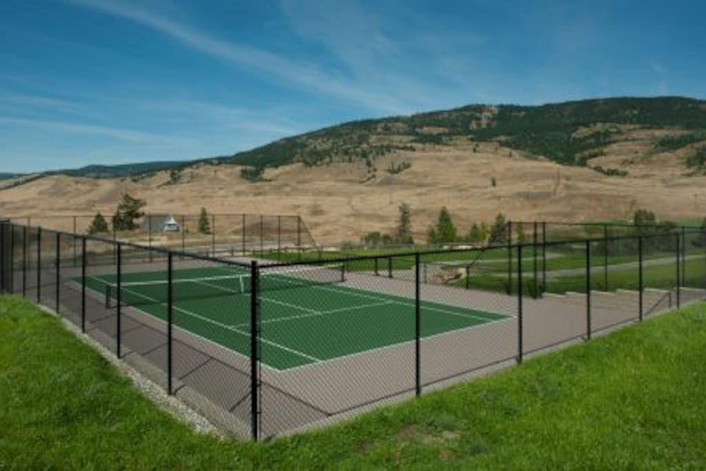 Recreational tennis courts at the park a 5 minute walk away.