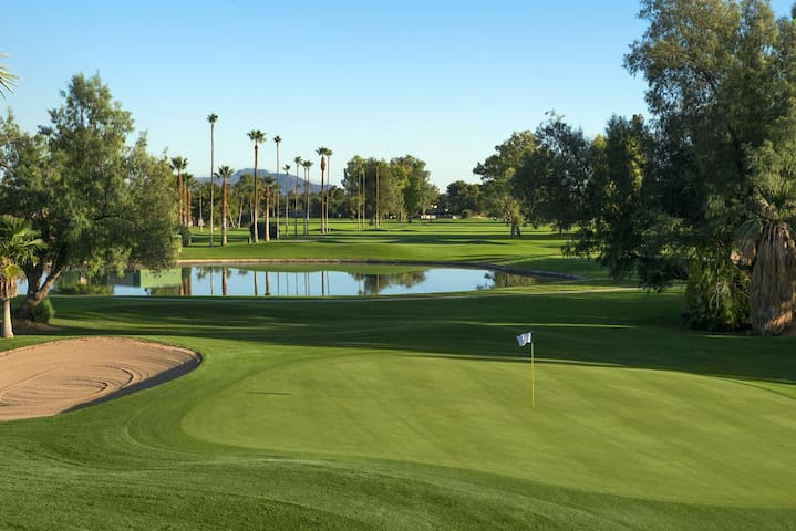 Golf course view, renovated 1BR, close to Old Town
