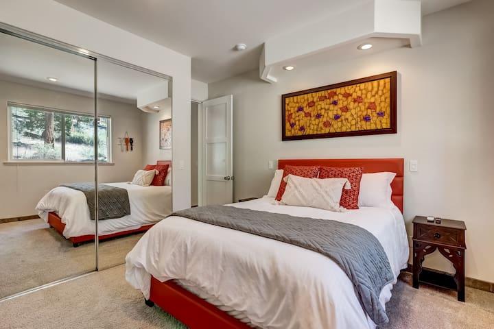 Queen Bedroom w/Private Ensuite Bath, Smart TV, & Large Closet