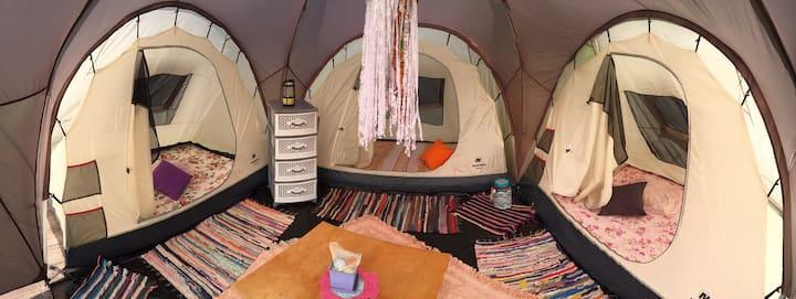 Палаточный лагерь или Глэмпинг по Сибирски