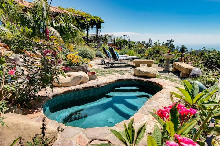 Lush Garden Estate w/ Hot Tub & Superb Ocean View