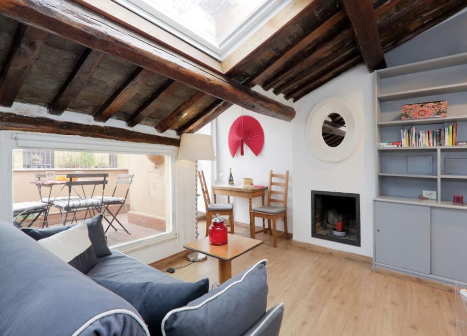 The living area combines with an open-plan kitchen and contains a comfortable double sofa, a smart coffee table, a small table with two chairs and a fully equipped kitchen with everything required to cook a perfect dish, such as an oven, a grill, a hob and a microwave. When you have finished cooking, why not dine in style on your own private terrace. Here you can relax after a hard day\'s exploring or just enjoy the warm Mediterranean sun.