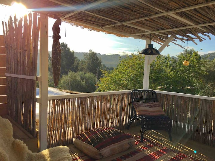 Spacious Room with private patio in finca Ibiza