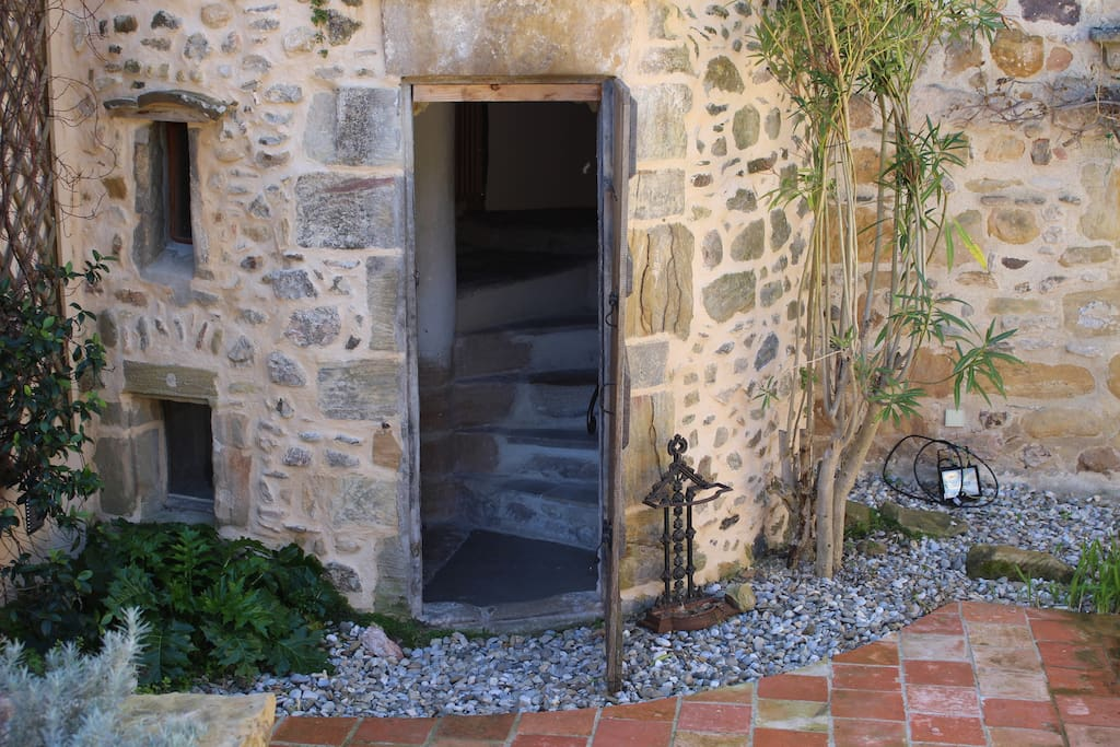 Tower entrance to stairs from the courtyard