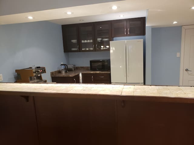 Private walkout basement with free parking