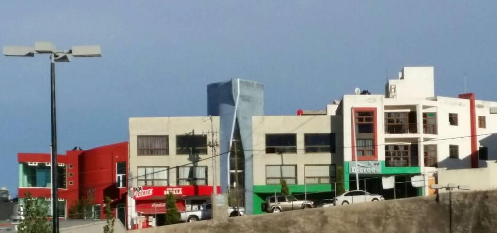 WHITE & BLUE BUILDING