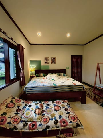MASTER BED ROOM (consist of KING SIZED BED and additional sofa bed) can accommodate up to 3 - 4 people :)
