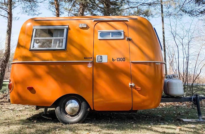 """Orange Crush"" the restored 1976 Boler camper"