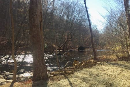 Private Suite on the Musconetcong River. - Hackettstown - Appartement