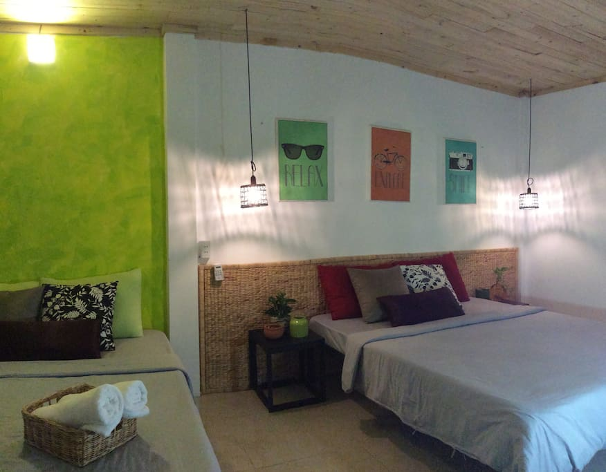 Spacious room that can accommodate up to 4 people