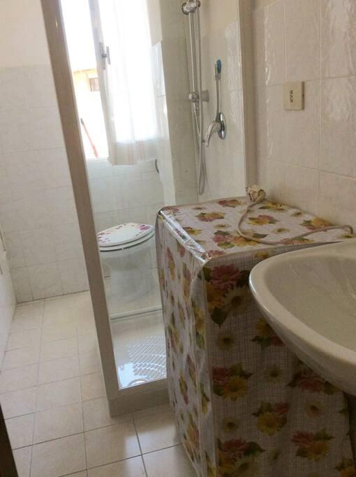 WC, Shower Box and washing machine