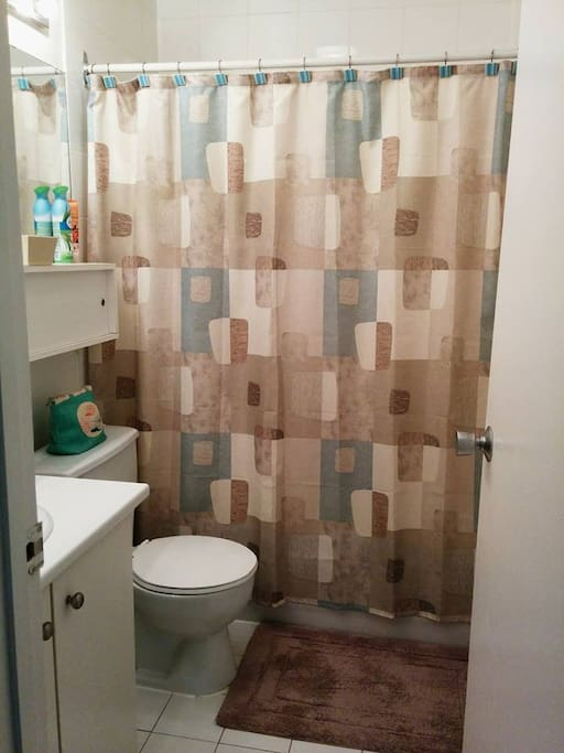 Bathroom offered to guests