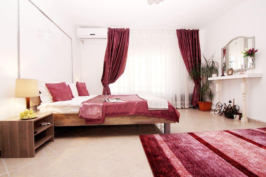 Bright bedroom.
