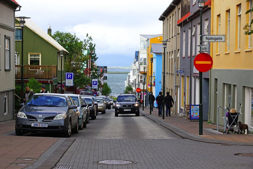 The main street Laugavegur is next to our street
