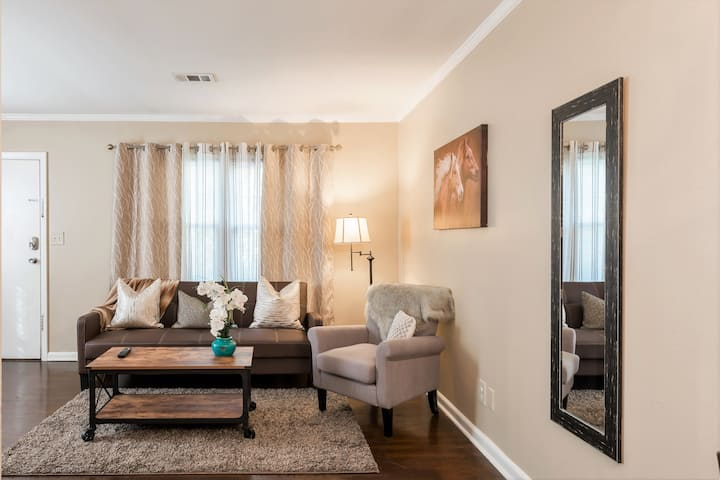 Comfy and Modern apartment by Piedmont Park $89p/n