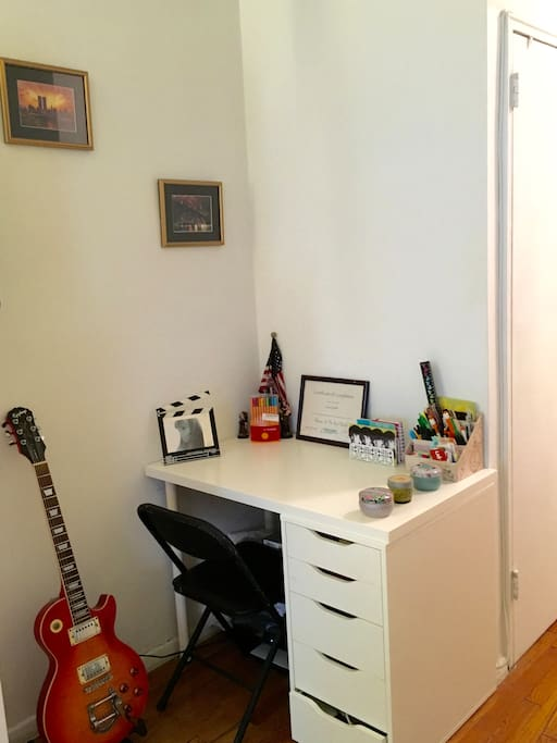 Small home office, with printer available.