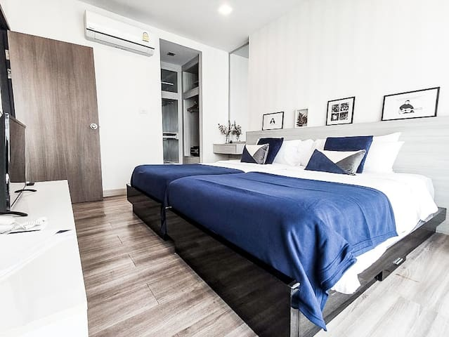 💙 Panoramic view Condo with kitchen Pool+Gym 💙