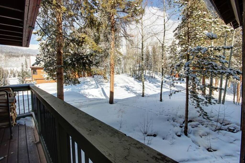Snowy Keystone views from the private deck