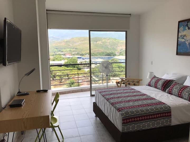 Apartamento excelente Vista, Balcón 5Star