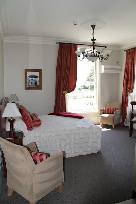 A stunning king size suite with double shower