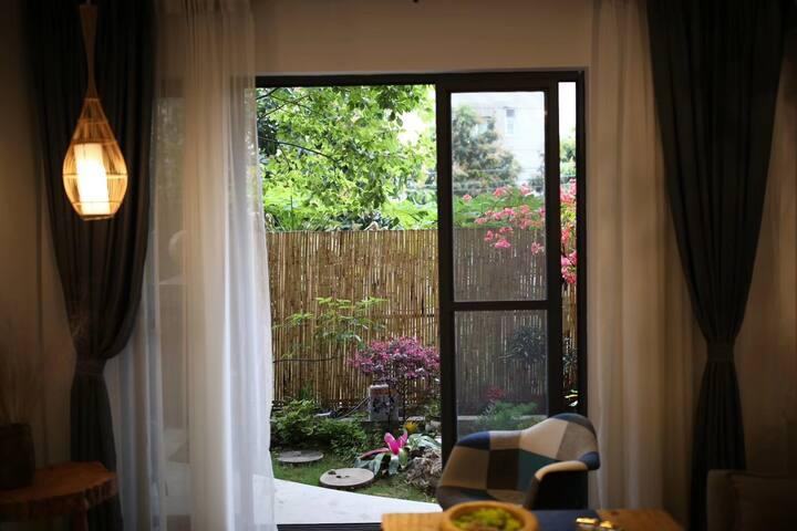 呼吸空间 - 白露,民族广场欧景庭园禅意榻榻米两居带庭院